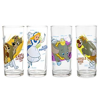 Disney Parks Ink & Paint Glasses, Set 1 of 2