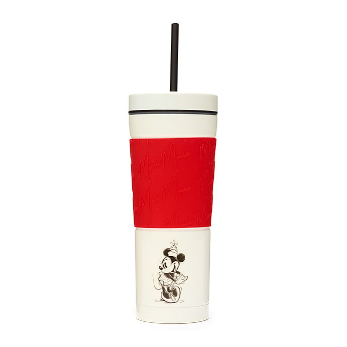 Disney Store Minnie Mouse Red and White Straw Tumbler