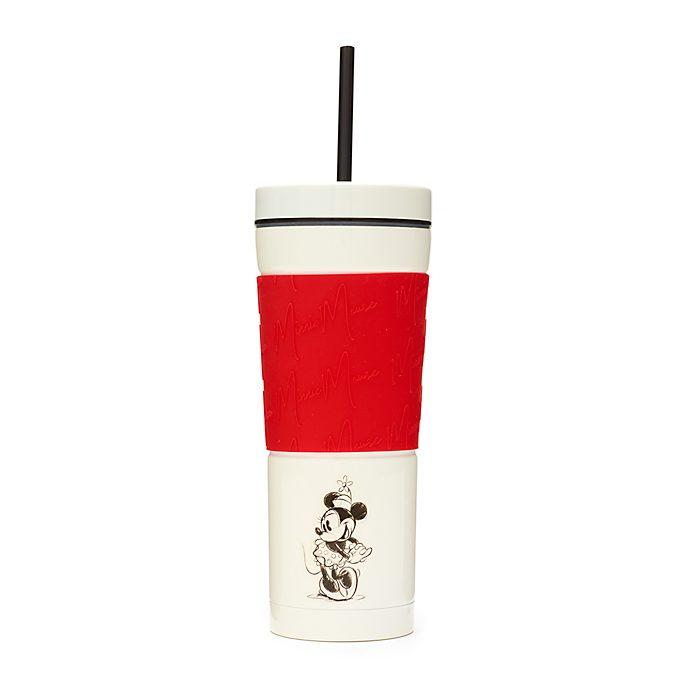 Vaso con pajita rojo y blanco Minnie Mouse, Disney Store