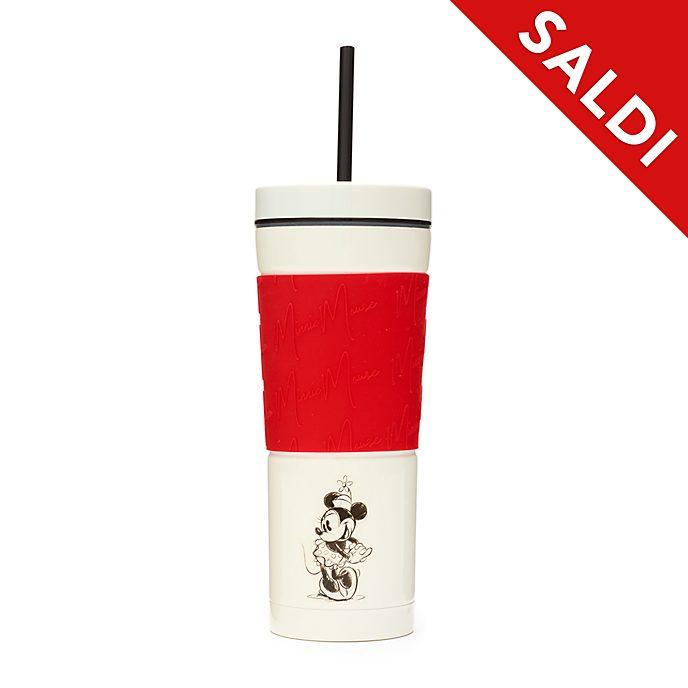 Bicchiere con cannuccia Minni rosso e bianco Disney Store