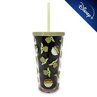 Bicchiere grande con cannuccia Il Bambino Star Wars: The Mandalorian Disney Store