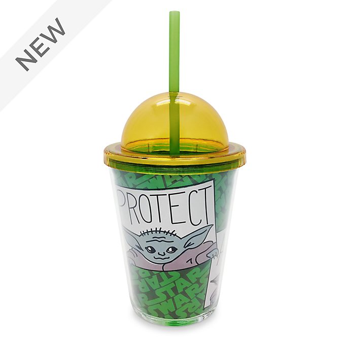 Disney Store The Child Small Straw Tumbler, Star Wars: The Mandalorian