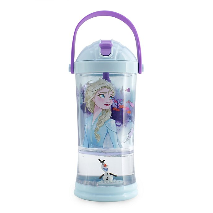Vaso con pajita y bola nieve Frozen 2, Disney Store
