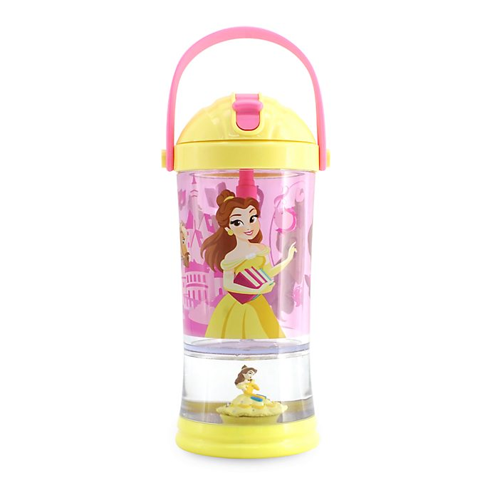 Disney Store Gobelet avec paille Boule à neige Belle, La Belle et la Bête