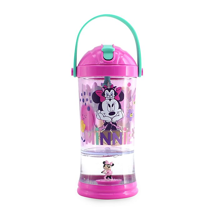Disney Store Minnie Mouse Snow Globe Straw Tumbler