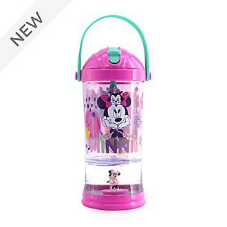 Disney Store Minnie Mouse Snow Globe Straw Tumbler