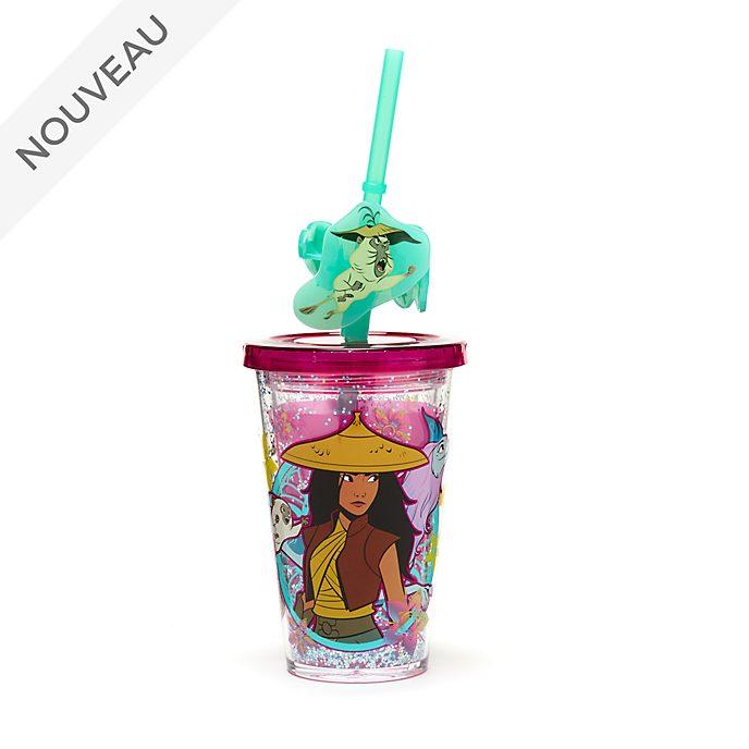 Disney Store Gobelet avec paille qui change de couleurs, Raya et le dernier dragon