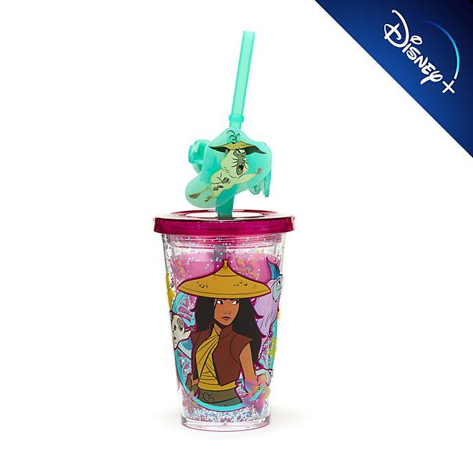 Bicchiere con cannuccia cangiante Raya e l'Ultimo Drago Disney Store