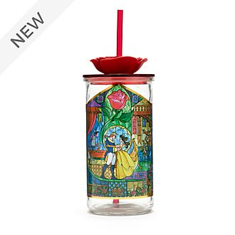 Disney Store Beauty and the Beast Straw Tumbler