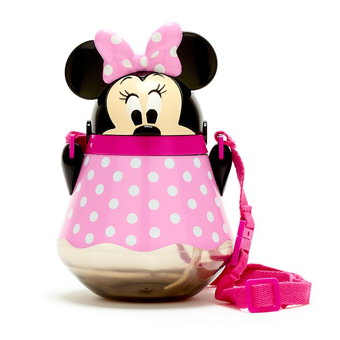 Disney Store Minnie Mouse Flip Top Water Bottle