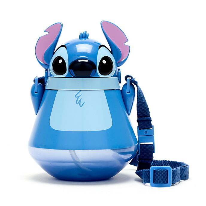 Disney Store Stitch Flip Top Water Bottle