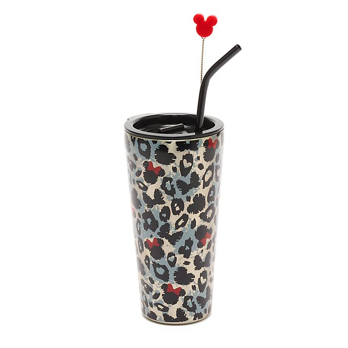 Disney Store Minnie Mouse Animal Print Straw Tumbler