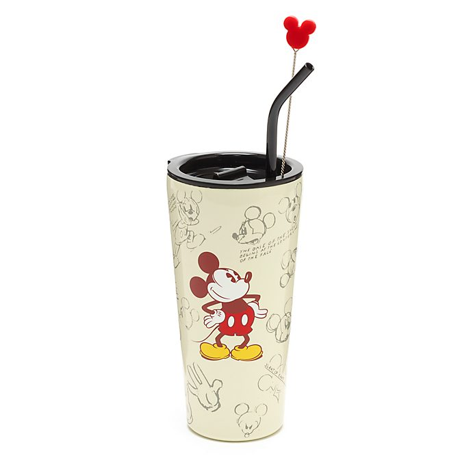 Disney Store Mickey Mouse Sketch Straw Tumbler