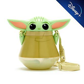 Disney Store Gourde Grogu L'Enfant avec paille rabattable, Star Wars