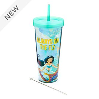 Disney Store Princess Jasmine Straw Tumbler, Aladdin