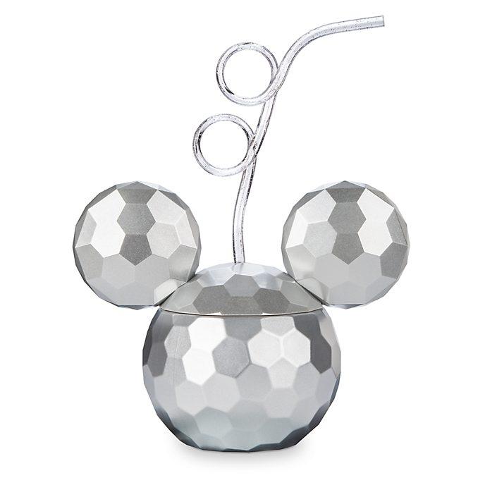 Taza con pajita bola de discoteca Mickey Mouse, Disney Store