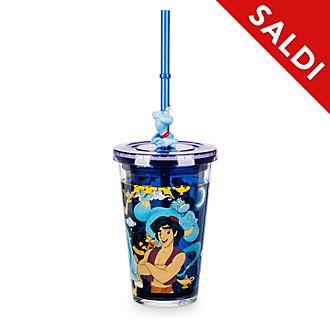Bicchiere con cannuccia Aladdin Disney Store
