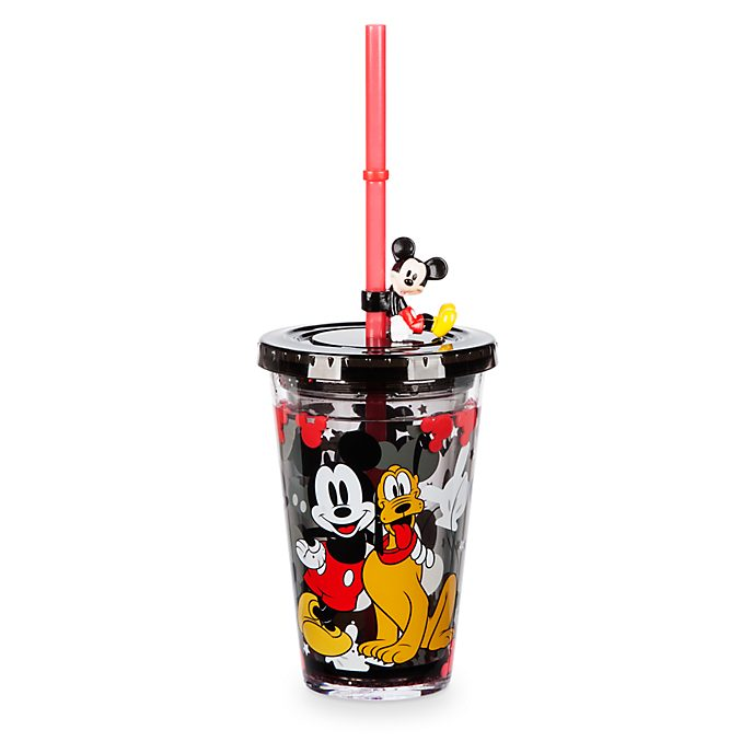 Disney Store Gobelet avec paille Mickey Mouse