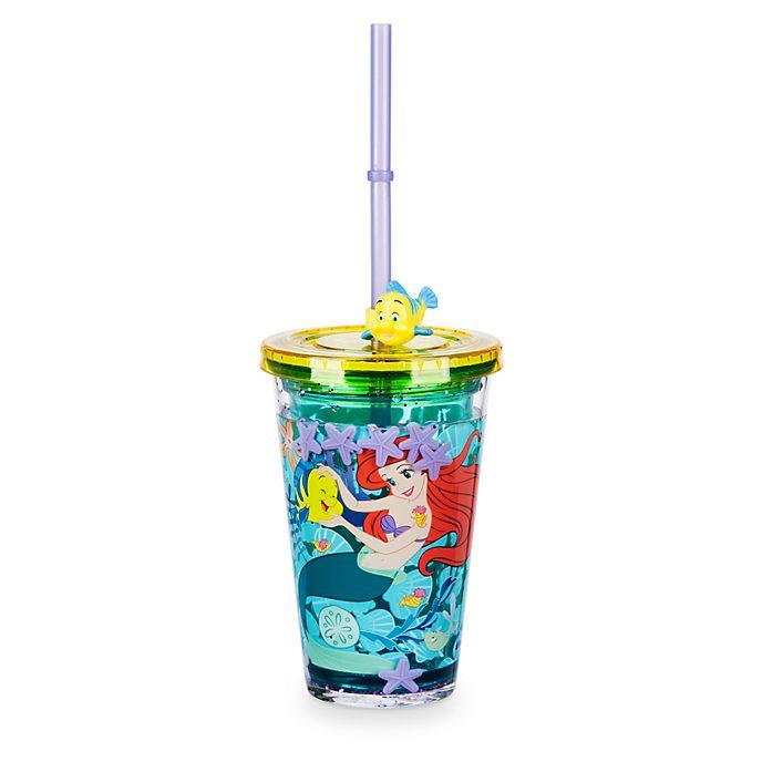 Bicchiere con cannuccia La Sirenetta Disney Store