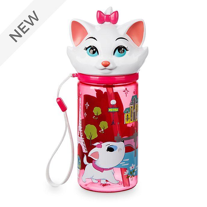 Disney Store Marie Furrytale Friends Flip Top Water Bottle