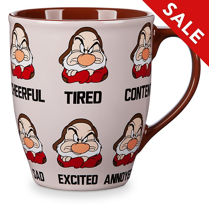 Disney Coffee Cup Mug Tired and Grumpy