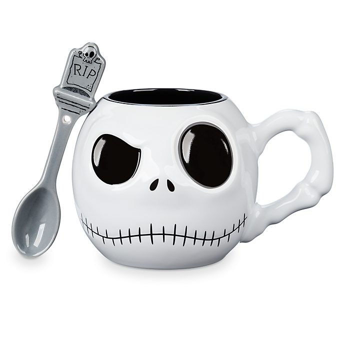 Disney Store Jack Skellington Mug and Spoon