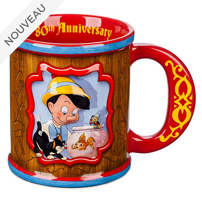 Disney Store Mug80e anniversaire de Pinocchio