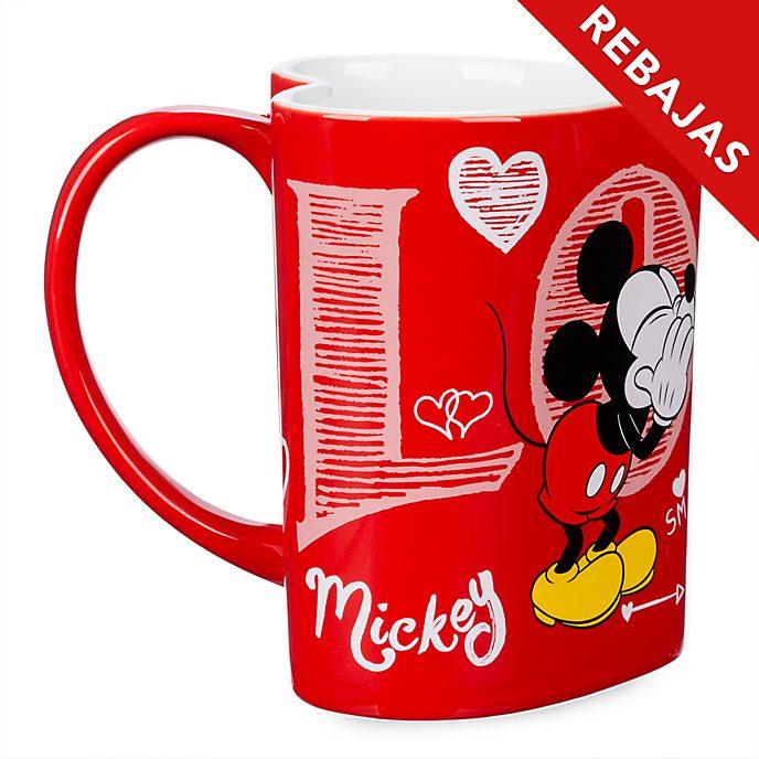 Taza en forma de corazón Mickey y Minnie, Disney Store