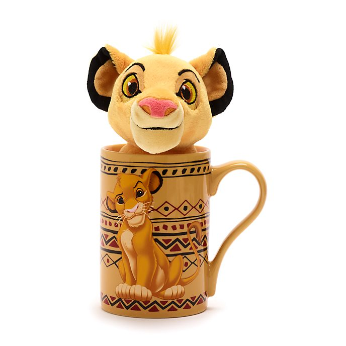 Promoción bundle taza y minipeluche Simba, Disney Store