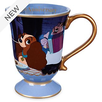 Disney Store Lady and the Tramp 65th Anniversary Mug