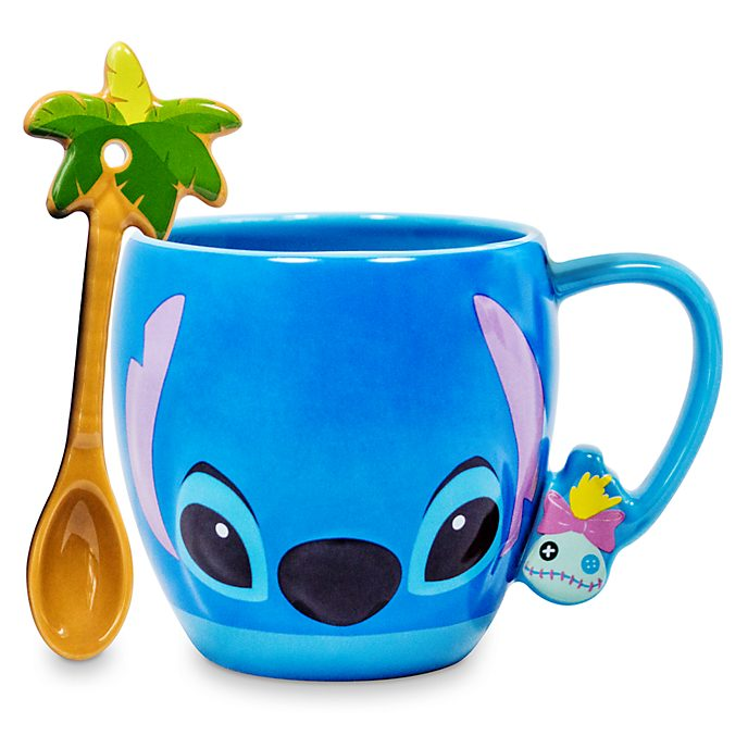 Taza y cuchara Stitch, Disney Store