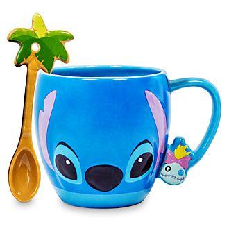 Taza y cuchara Stitch, Disney Store
