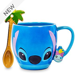 Disney Store Stitch Mug and Spoon