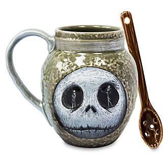 Disney Store Jack Skellington Mug and Spoon