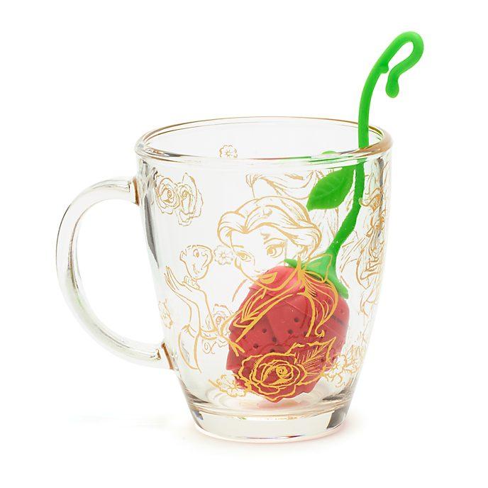 Disney Store Mug avec boule à infuser La Belle et la Bête