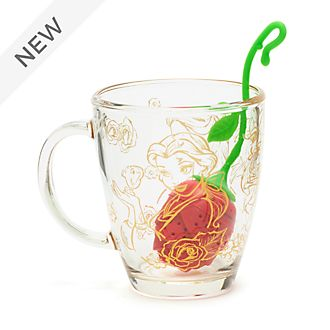 Disney Store Beauty and the Beast Mug and Tea Infuser