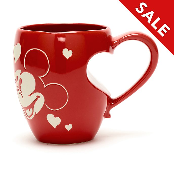 Disney Store Mickey and Minnie Mouse Love Mug