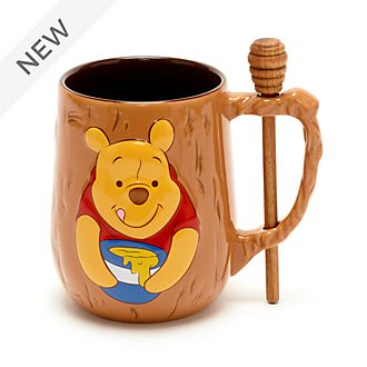 Disney Store Winnie the Pooh Mug and Stirrer