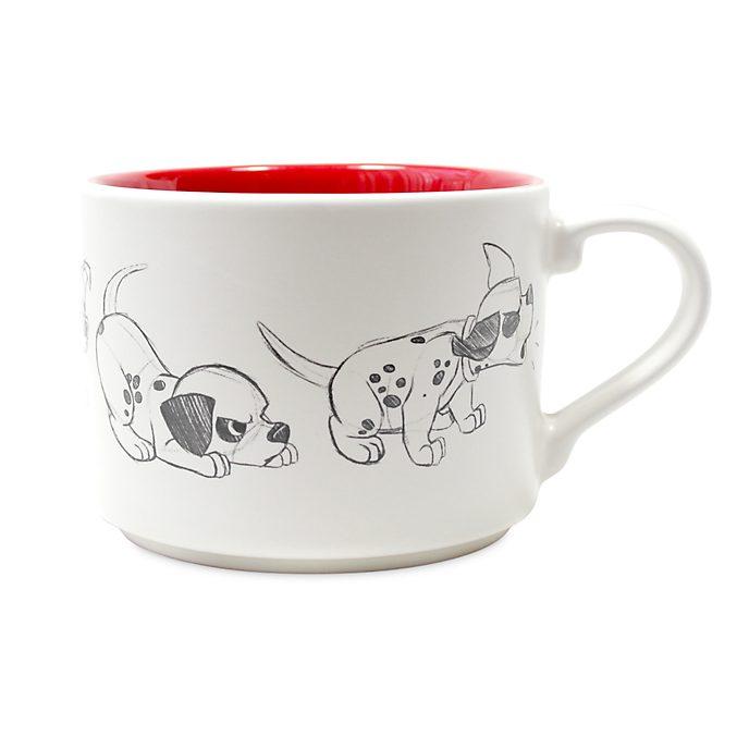 Disney Store Patch Stackable Mug, 101 Dalmatians
