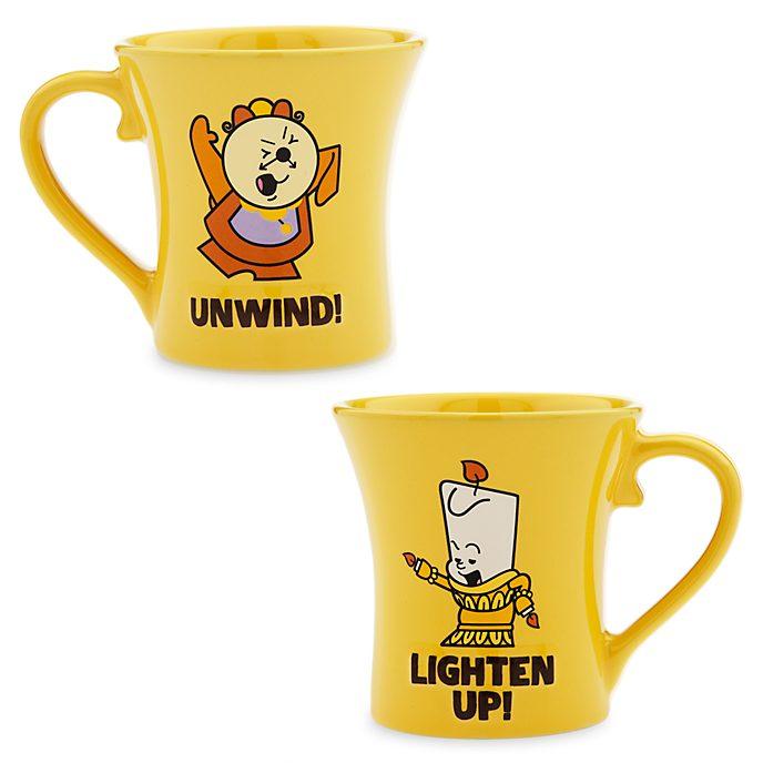 Disney Store - Dynamic Duos - Herr von Unruh und Lumière - Becherset
