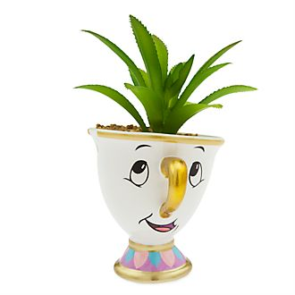 Disney Store Chip Artificial Potted Plant, Beauty and the Beast