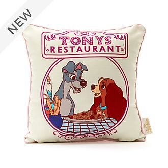 Disney Store Lady and the Tramp Cushion