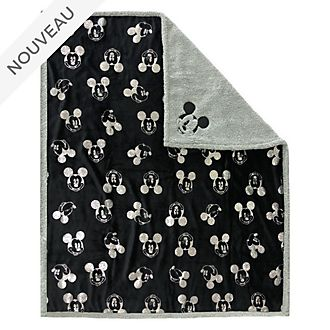 Disney Store Jeté Mickey Mouse Greyscale en polaire