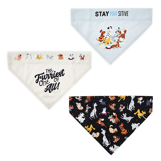 Disney Store Lot de bandanas pour chiens Disney Dogs