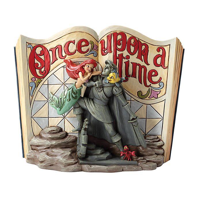 Statuetta libro di fiabe La Sirenetta collezione Disney Traditions Enesco