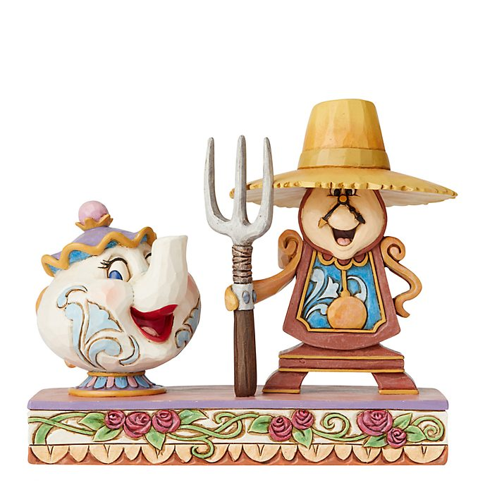 Enesco Mrs. Potts and Cogsworth Disney Traditions Figurine