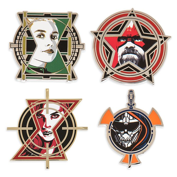 Set pins edición limitada Viuda Negra, Disney Store