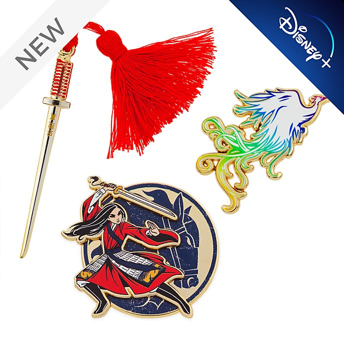 Disney Store Mulan Limited Edition Pin Set