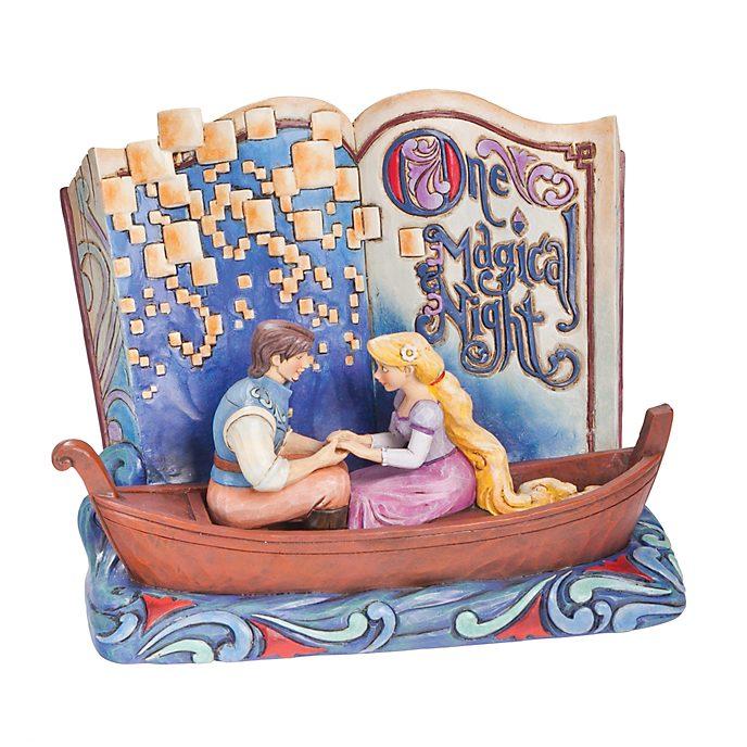 Enesco - Disney Traditions Dekorationsstück - Rapunzel - Neu verföhnt - Märchenbuch One Magical Night