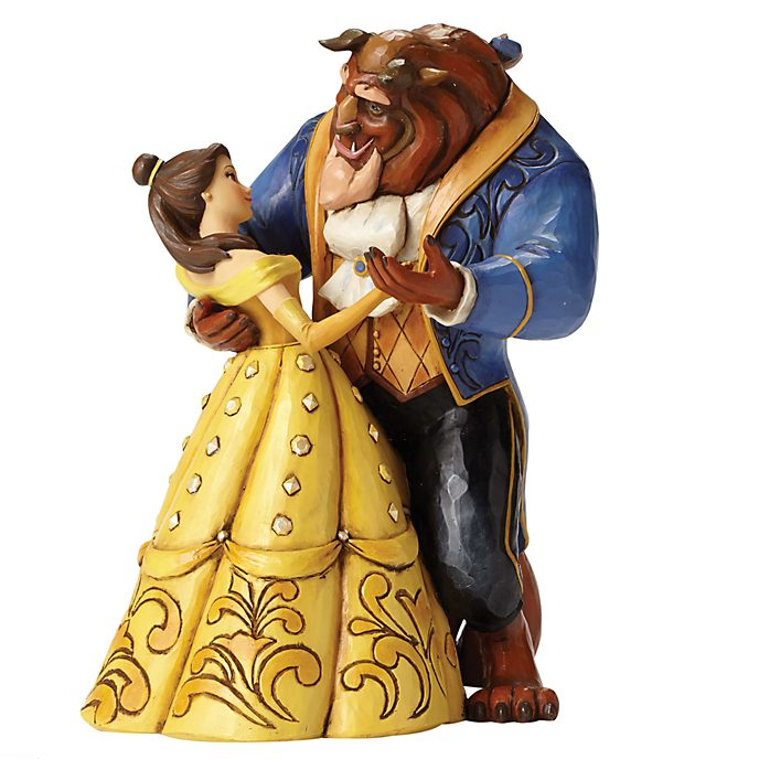 "Enesco Figurine La Belle et la Bête ""Valse au clair de lune"", Disney Traditions"